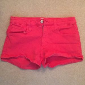 Joes denim pink shorts